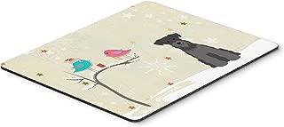 Caroline's Treasures Christmas Presents, Miniature Schnauzer Mouse Pad, Multicolor, 7.75x9.25 (BB2523MP)