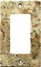 Turkish Scabos Travertine Real Stone Switch Plate Cover, Honed-Single Rocker