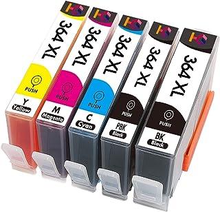 خرطوشة حبر طابعة OYZK ل HP364XL HP 364 XL HP Photosmart 5510 5515 6510 B010a B109a B209a Deskjet 3070A HP364 (اللون: 5 قطع...