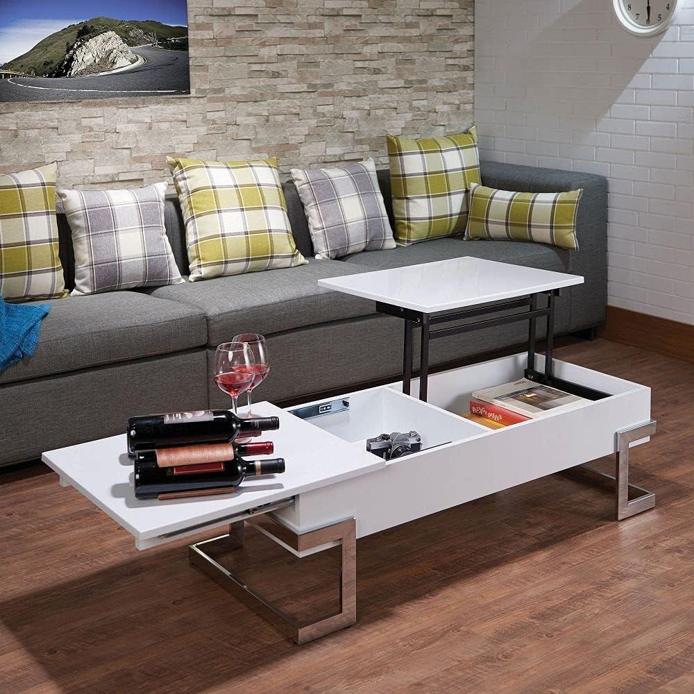 Max 71% OFF TITA-DONG Acme Calnan Coffee Portland Mall Table Chrome 81850 White in