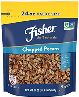 Fisher Nuts Chef's Naturals Chopped Pecans, 24oz, Naturally Gluten Free, No Preservatives, Non-GMO
