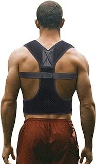 Posture Corrector for Men and Women Adjustable Upper Back Brace for Clavicle Lumbar Support Neck Shoulder Pain Relief (Black)