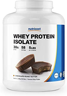 Nutricost Whey Protein Isolate (Chocolate Peanut Butter, 5 Pound) Protein Powder