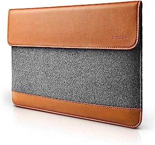 tomtoc インナーケース スリム 15インチ MacBook Pro Retina 対応 ラップトップスリーブ タブレット カバー フェルト & PUレザー プロテクターケース アクセサリー ポケット 付き