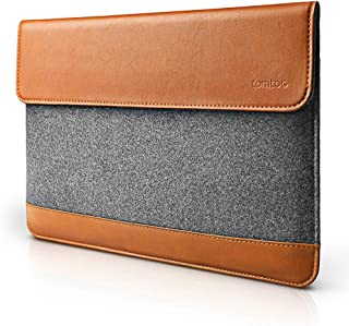 tomtoc Slim Laptop Sleeve for New MacBook Air 13-inch with Retina Display A1932, 13 Inch MacBook Pro with USB-C Late 2016-2019 A2159 A1989 A1706 A1708, Felt & PU Leather Envelope Case