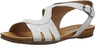 Miz Mooz Women's Ashe Flat Sandal White 10 M US