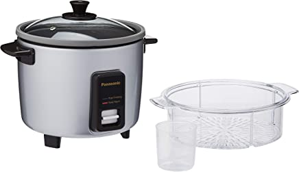 Panasonic SR-Y10FGELSH Conventional Rice Cooker, 1 L Capacity, Silver