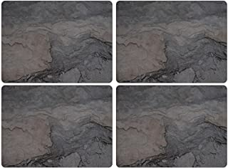 Pimpernel 40.1 x 29.8cm MDF with Cork Back Midnight Slate Placemats, Set of 4, Multi-Colour