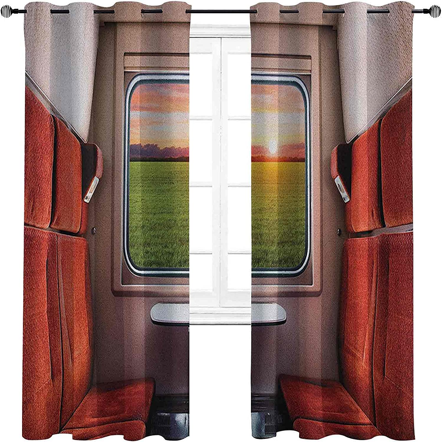 New arrival Nature High-Strength Over item handling ☆ Blackout Curtains Setting Fresh fro
