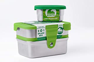 ECOlunchbox Blue Water Bento 3-in-1 Splash Box Container Set