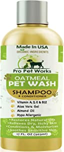 Pro Pet Works All Natural Organic Oatmeal Pet Shampoo