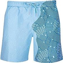 RZKJ Kleurwisselende zwembroek voor heren, sportbroek, korte strandbroek voor mannen, watergeving, verkleuring, strandbroe...