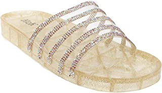 Womens Jelly Glitter Summer Slide Sandals Flip Flops (Adults)