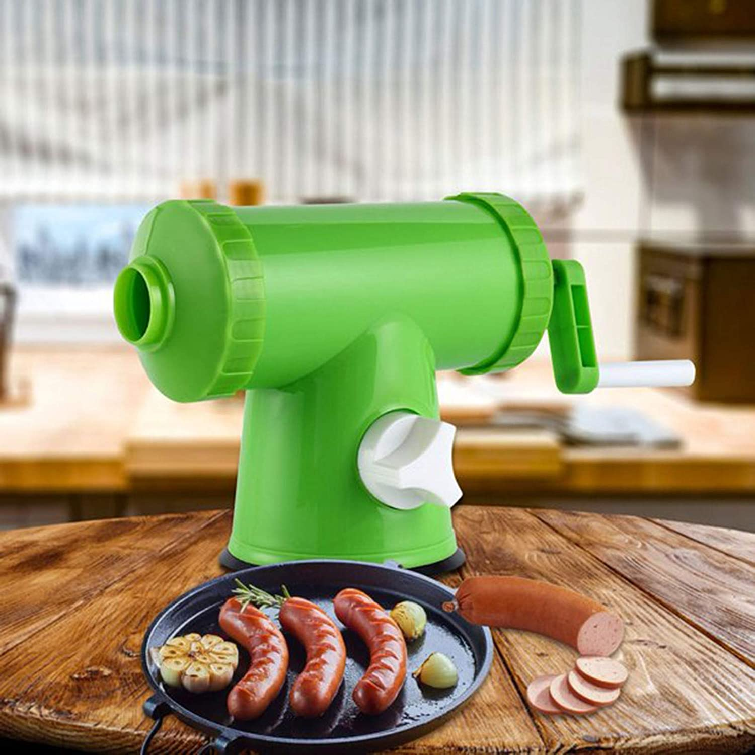 Plastic Popular product Suction Sales of SALE items from new works Cup Horizontal Sausage M Kitchen Manual Stuffer
