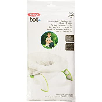 OXO Tot 2-in-1 Go Potty for Travel with Replacement Bags Pack of 10 Bags