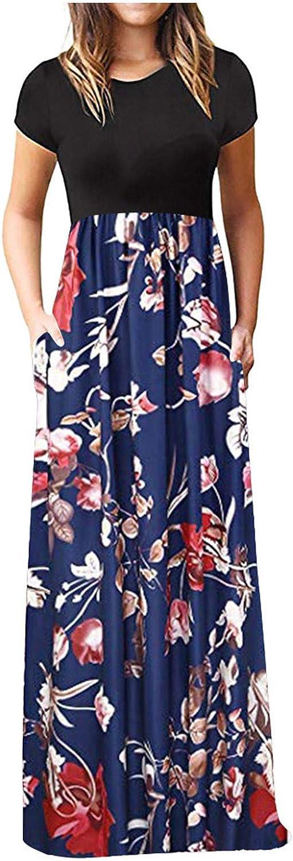 Regular dealer Maxi Dresses for Women 5 ☆ very popular Jebess Sleeve Short Casual Summer