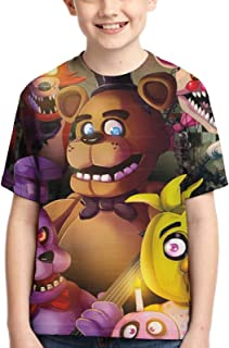 Kids Five Nights at Freddy's T-Shirt Novelty Short Sleeve Tops Tee Shirts for Boys Girls