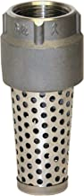Merrill MFG FVSE75 1100 Series Stainless Steel Foot Valve, Viton O-Ring Included, Pipe Size 3/4