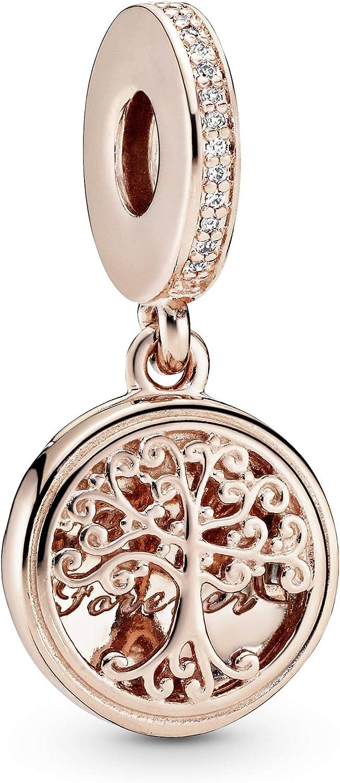 Pandora Jewelry Family Roots Cubic Zirconia Charm in Pandora Rose