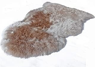 Outlavish Sheepskin Rug Soft Genuine Natural Merino (2 x 3ft, Light Brown)