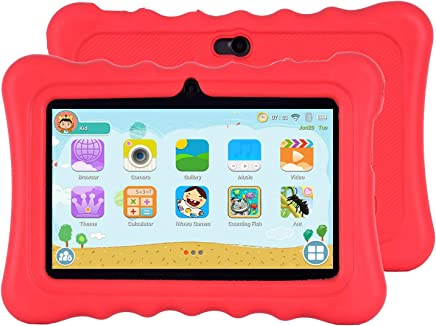 $35 Get Xgody T702 7 Inch HD Kids Tablet PC for Kids Quad Core Android 8.1 1GB RAM 16GB ROM Touch Screen with WiFi Pre-Loaded 3D Game Dual Camera Red