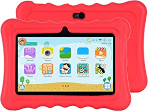 $41 » Xgody T702 7 Inch HD Kids Tablet PC for Kids Quad Core Android 8.1 1GB RAM 16GB ROM Touch Screen with WiFi Pre-Loaded 3D Game Dual Camera Red