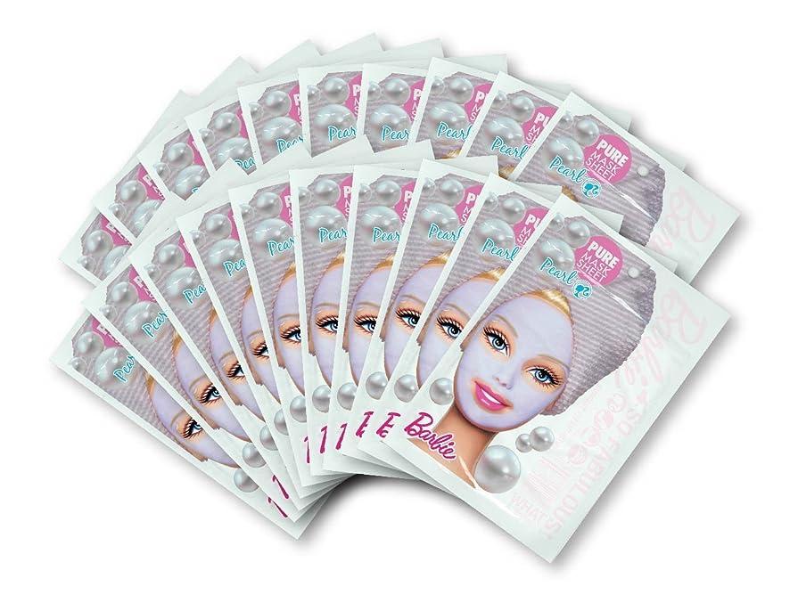 風が強いステープル敬なバービー (Barbie) フェイスマスク ピュアマスクシートN (パール) 25ml×20枚入り [保湿] 顔 シートマスク フェイスパック