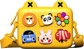 JONZOO Little Girls Purse, EVA Crossbody Bag Shoulder Bag for Kids Ages 2+, Casual Handbag with Zipper & Adjustable...