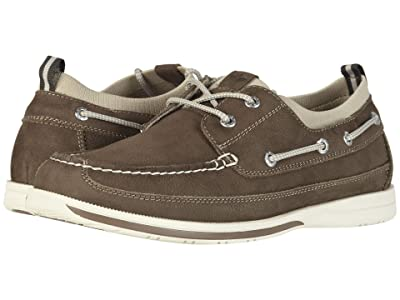 Dockers Homer Smart Series Leather Boat Shoe with Smart 360 Flex and NeverWet (Dark Taupe Tumbled Nubuck) Men