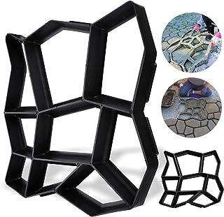 Wolketon - Plantilla para hacer tiritas de plástico en color negro, para uso en exteriores, para cemento, estable y resistente para jardín