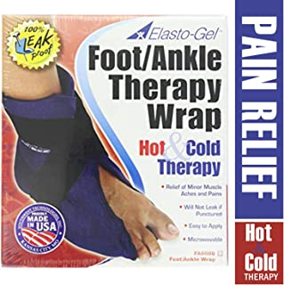 Elasto Gel Hot/Cold Foot and Ankle Wrap, Flexible Hot & Cold Gel Wrap for Ankle Injury, Bruises & Muscle Sprains, Reusable Hot & Cold Therapy for Pain Relief & Recovery