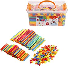 Straws and Connectors Builders Set - Straw Constructor STEM Construction Building Toy – 800 Pieces - Educational Toys Boy ...
