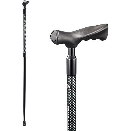 ウィズギア(Withgear) ウォーキングポール - 衝撃吸収 右効き用 ウォーキングステッキ 男女兼用 人間工学デザイン グリップ付き