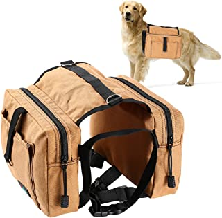 Fuaojia Dog Backpack,Dog Bag Travel Camping Hiking Pack Saddle Bag,Hound Rucksack for Dog for Hiking Walking Camping