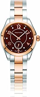 Philip Stein Women's Traveler Swiss-Quartz Watch with Two-Tone-Stainless-Steel Strap, 8 (Model: 91TRG-DCHMOP-SSTRG)