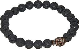 Buddha Bracelet with Lava Stone