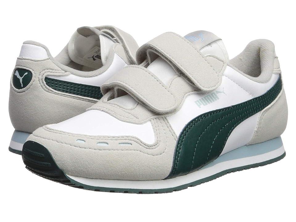 Puma Kids Cabana Racer SL Velcro (Little Kid) (Puma White/Gray Violet/Ponderosa Pine) Boys Shoes