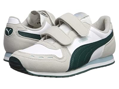Puma Kids Cabana Racer SL Velcro (Little Kid) (Puma White/Gray Violet/Ponderosa Pine) Boys Shoes