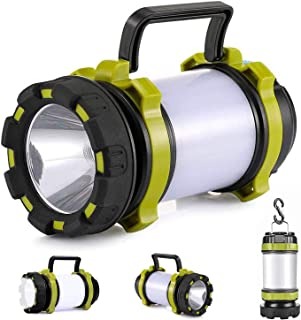 Rechargeable Camping Lantern Flashlight,Super Bright Portable Survival Lanterns, LED Camping Lantern with 6 Modes for Hurr...