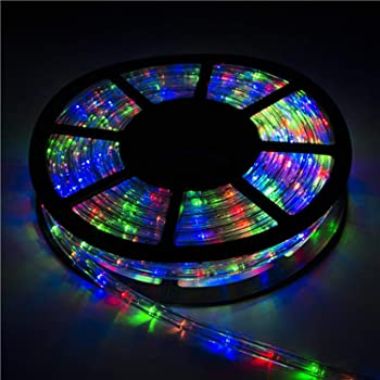 PUPZO LED Rope Lights,50FT-150FT 540-1620leds Strip Lights Waterproof Home in/Outdoor Christmas Decorative Party Lighting (100FT, Multicolor)
