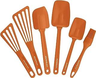 Rachael Ray Tools & Gadgets 6-Piece Nylon Tool Set, Orange