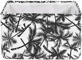 JOMSK Durable Boîte De Rangement Lin Et Coton Organisateur Imperméable À l'eau Fabic Panier De Rangement Organisateur avec...