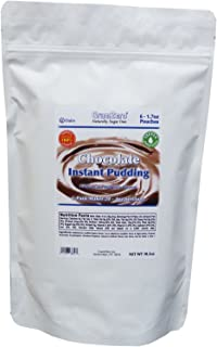 GramZero Sugar Free Pudding Mix, Stevia Sweetened, Chocolate, 6 pouches, 24 servings total