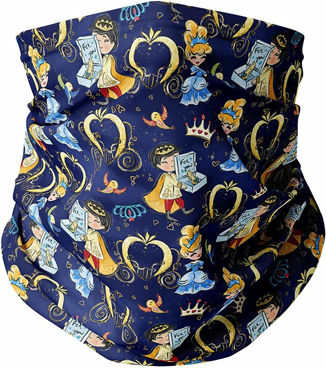 Neck Gaiter Face Covering - Cinderella And Her Prince Charming