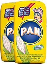 P.A.N. White Corn Meal – Pre-cooked Gluten Free and Kosher Flour for Arepas, 1 Kilogram (35 Ounces / 2 Pounds 3.3 Ounces) (Pack of 2)