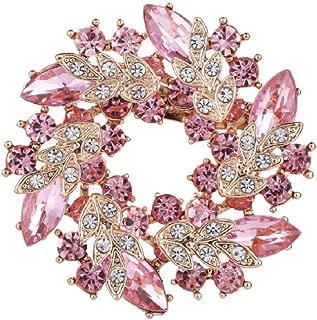 Vintage Rhinestone Bridal Wedding Bouquet Flower Wreath Brooch Pins for Women