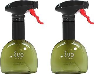 Evo Oil Sprayer 8118GR Bottle, Non-Aerosol for Olive Cooking Oils, 8-Ounce Capacity, Set of 2, Green