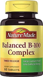 Nature Made Balanced B-100 Timed Release (Thiamin, Riboflavin, Niacin, B6, B12, Biotin, Pantothenic Acid & Folic Acid) Tablets 60 Ct