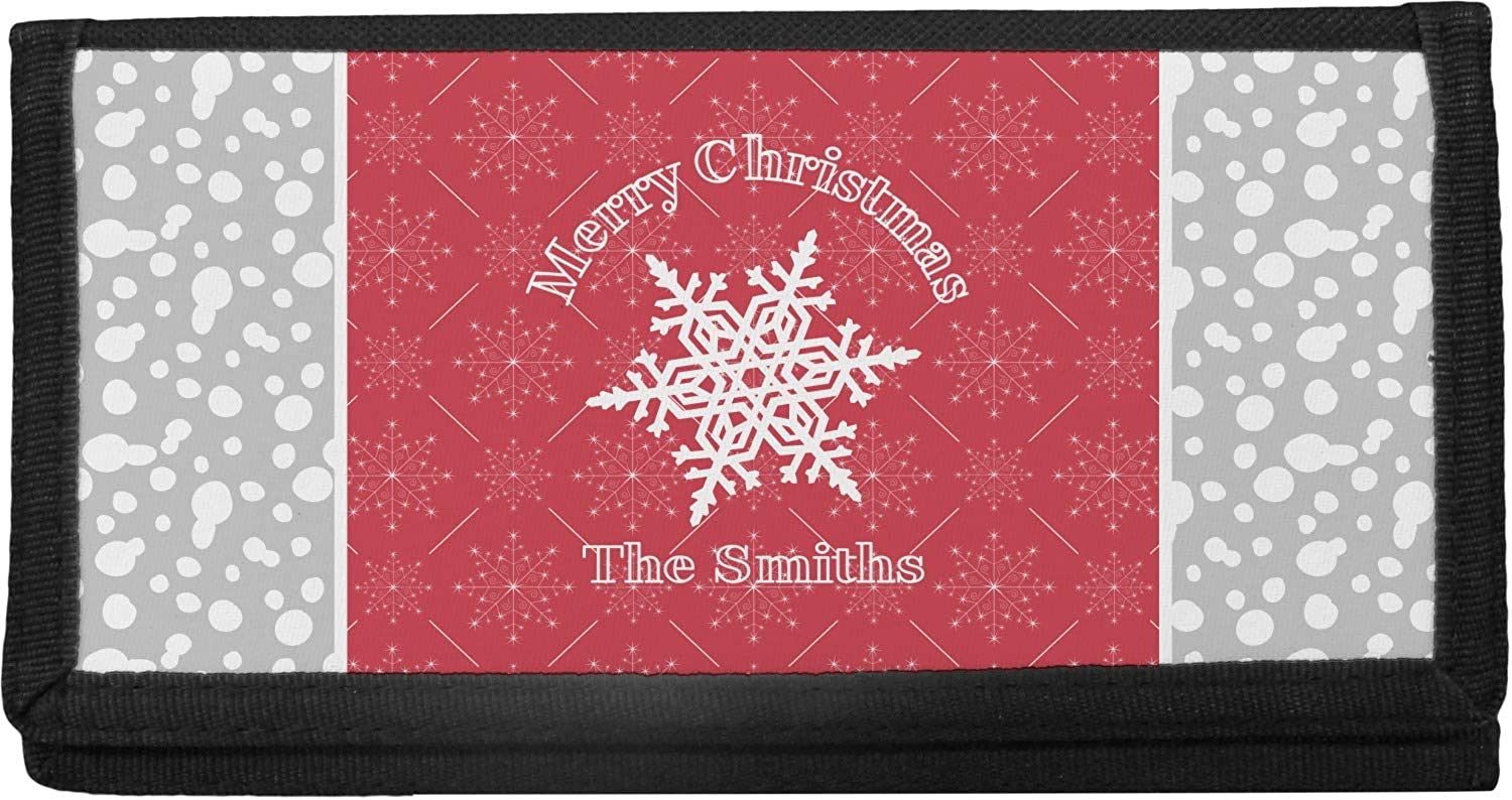 Snowflakes Canvas Checkbook Personalized Max 47% Cash special price OFF Cover