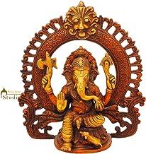 StatueStudio Brass Ganesha Statue for Home Decor Big Living Room Office Year Gifts Hindu God Ganpati Idol Ganesh Vastu Mur...